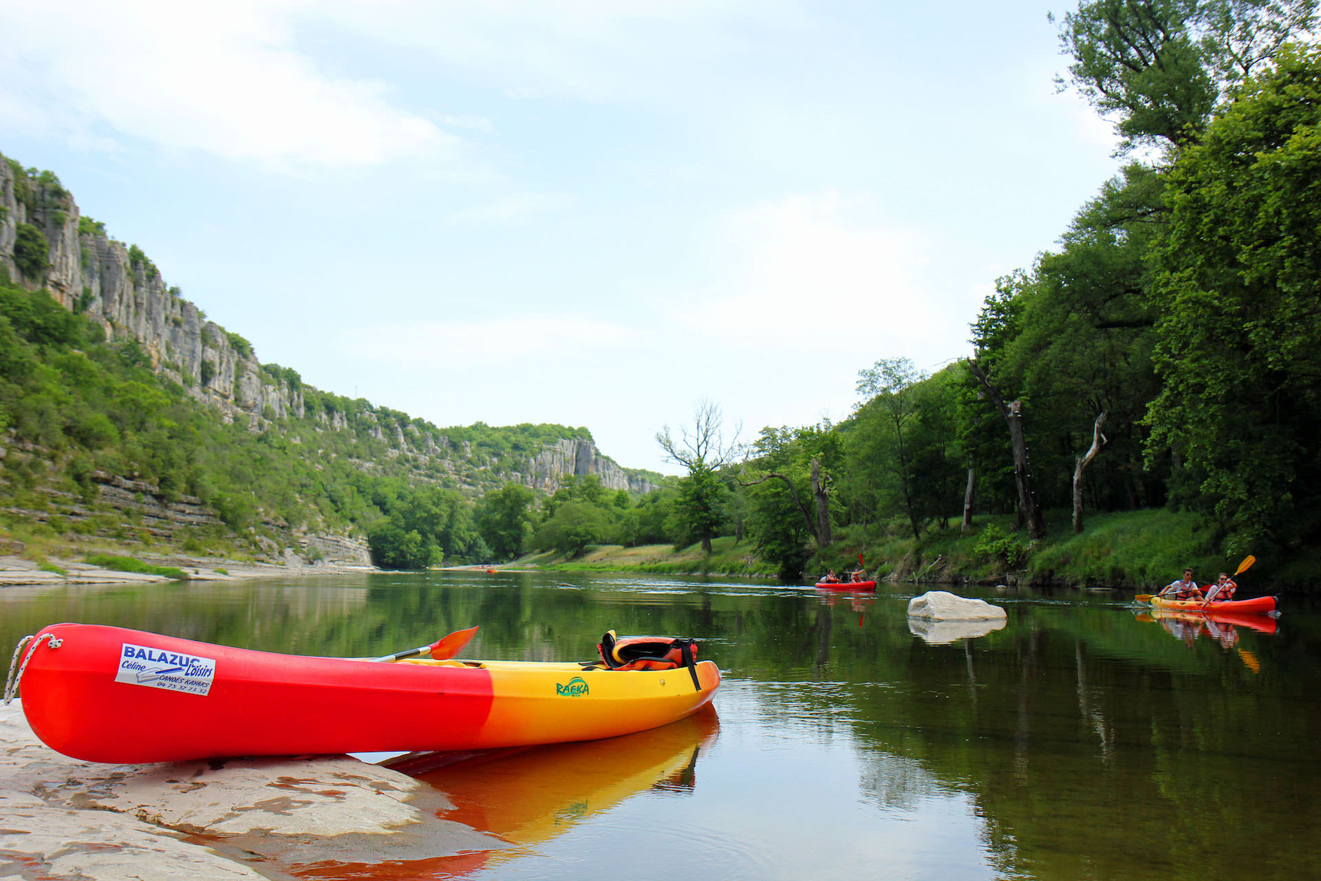 Descente de l'Ardèche avec Balazuc Loisirs